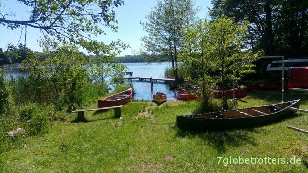 Anleger für Wasserwanderer des Campingplatzes am Gobenowsee