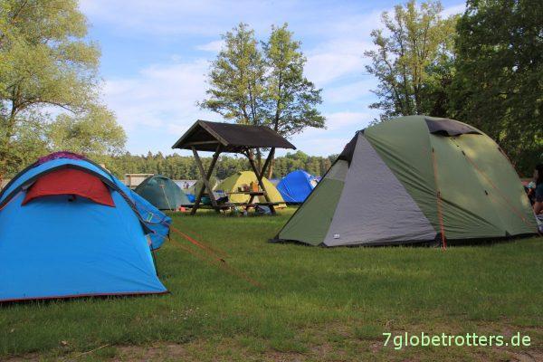 Wasserwanderwiese auf dem Campingplatz am Drewensee