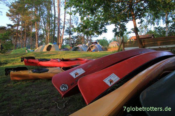 Wasserwandererplatz auf dem Naturcamping am Großen Pälitzsee