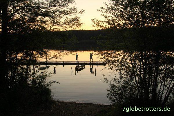 Abendliches Angeln am Großen Pälitzsee
