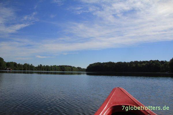 Start auf den Gobenowsee zum Endspurt auf der 10-Seen-Rundtour