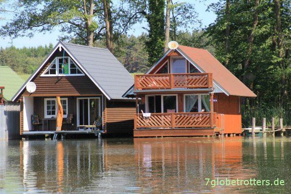 """Auch nicht schlecht: """"Bootshäuser"""" auf dem Klenzsee"""