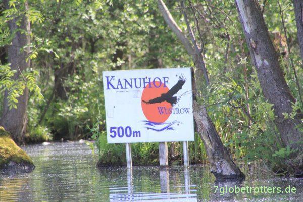 Einfahrt in den letzten Kanal zum Balinkasee direkt am Kanuhof Wustrow