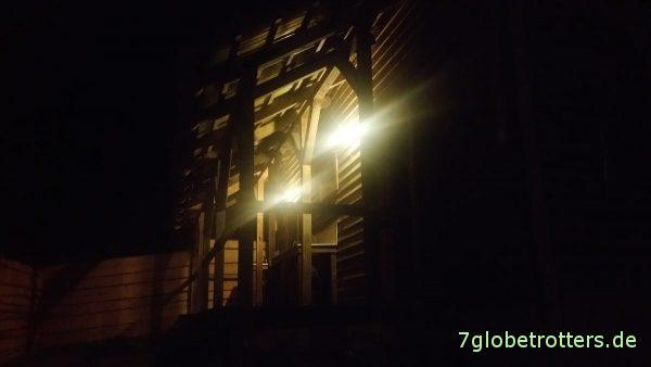 Abendliche Ankunft auf dem Kanuhof Wustrow