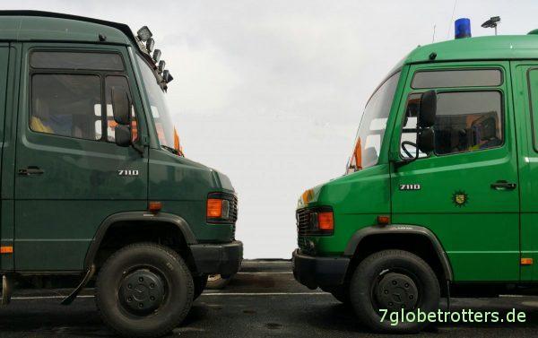 2x MB 711 D: Umbereifung und Höherlegung versus Originalversion