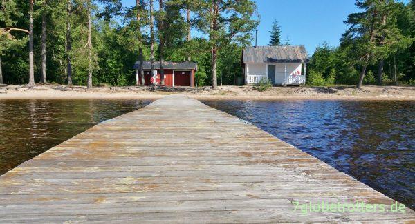 Badplats-Idylle in Schweden