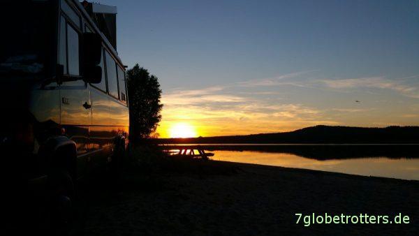 22:43 Uhr: Sonnenuntergang in Schweden bei Särna