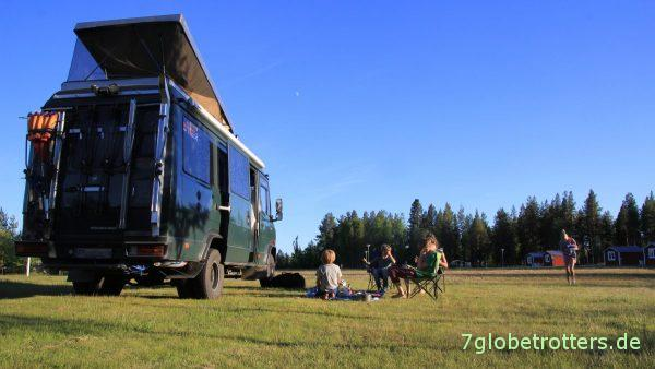 In Schweden kann es auch auf dem Campingplatz sehr einsam sein