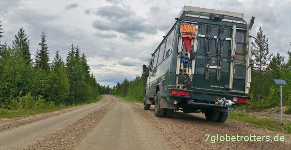 Waldpisten in Lappland