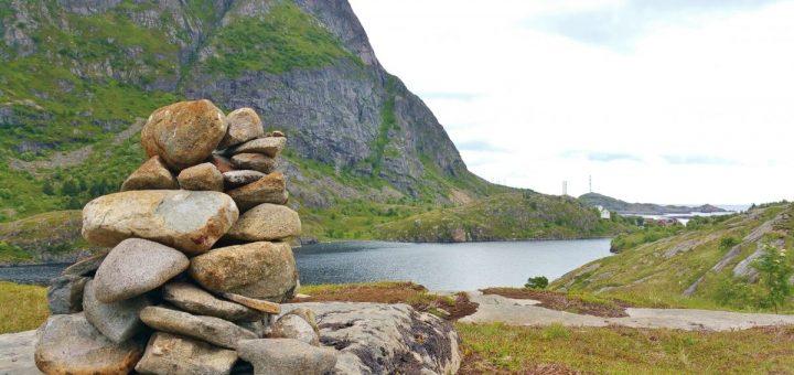 Das Ågvatnet ist nur 4 m höher als der Meeresspiegel