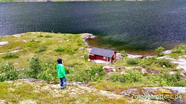 Kleine Hütte am Ågvatnet