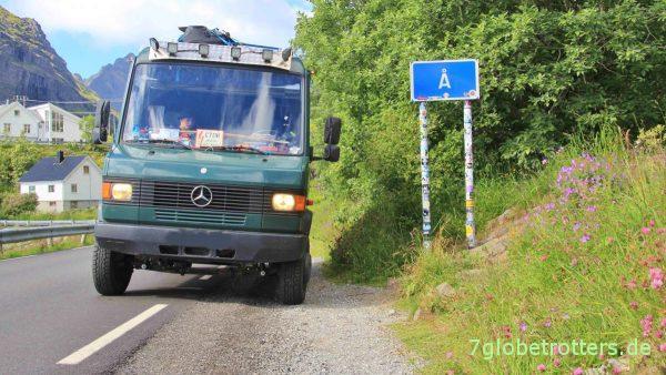 Wir verlassen Å in Richtung Nordosten