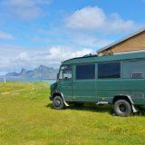 Campingplatz Fredvang auf der Nordseite der Lofoten