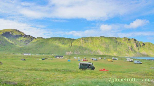 Campingplatz Fredvang auf Flakstad / Lofoten