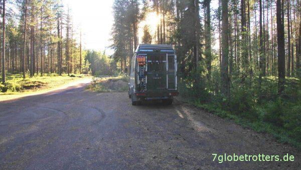 Einsamer Stellplatz am Kalixälven bei Tärendö