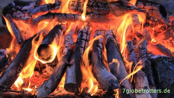Das Lagerfeuer gehört zu Schweden wie Gustav Adolf