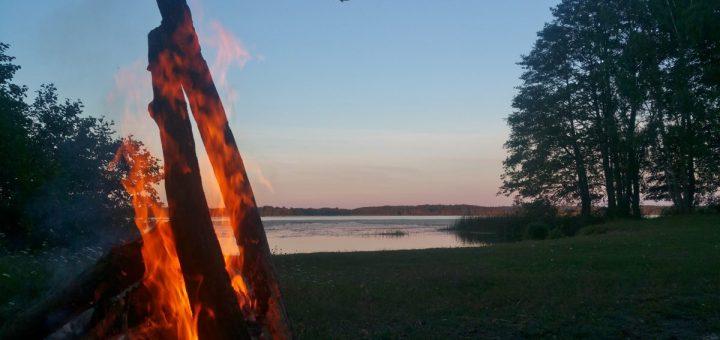 Natürlich hat auch das Naturreservat Fysingen einen Lagerfeuerplatz