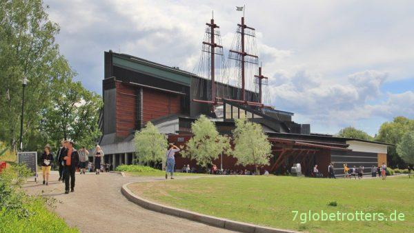 Imposant schon von außen: Vasa-Museum Stockholm
