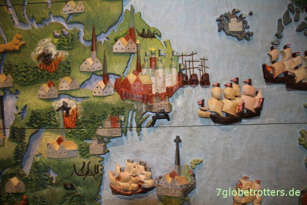 Reich illustrierte Karte Europas aus der Zeit der Vasa