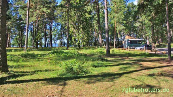 Übernachtungsplatz im Wald südlich von Stockholm