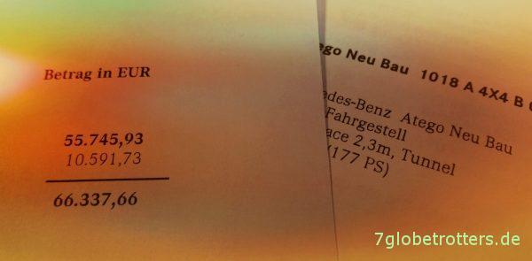 Preise für Mercedes Allrad-LKW: Was kostete 2014 ein neuer Mercedes Allrad-LKW Atego MB 1018 A?