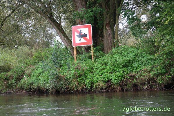 Ruderboote verboten auf der Lahn?
