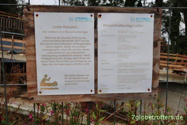 Neubau des Wasserkraftwerks am Wehr Lollar