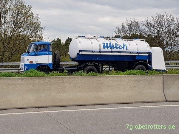 IFA W50 LS Sattelauflieger Tanklastzug Lebensmittel Milchlaster