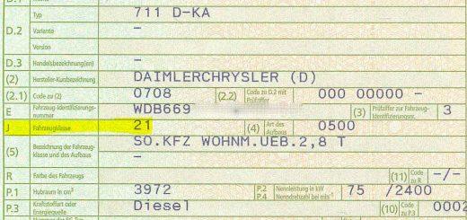 Unser MB 711 hat die Fahrzeugklasse 21/M1: Wichtig für die Autobahngebühr in Ungarn