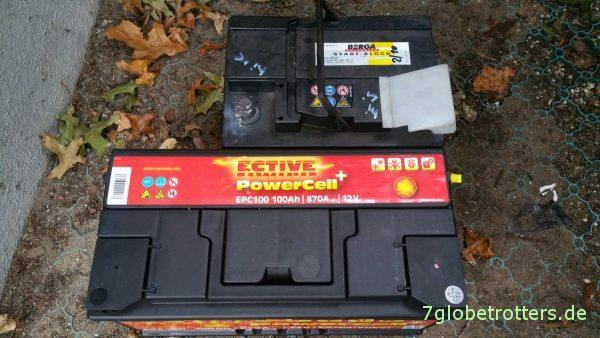 Wenn schon, denn schon: Größenvergleich der neuen Ective Autobatterien zu den Berga