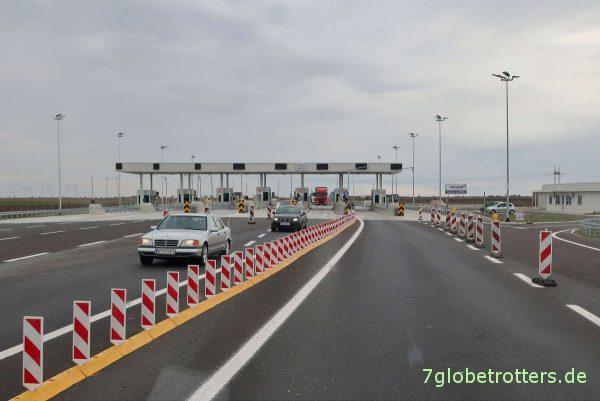 Serbien: Zahlstelle der Autobahnmaut