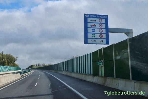 Tschechien: Zulässige Höchstgeschwindigkeiten