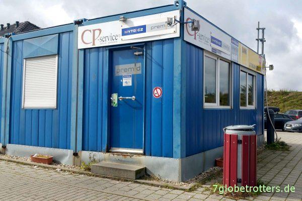 Tschechien: Mautverkaufscontainer auf der deutschen A17