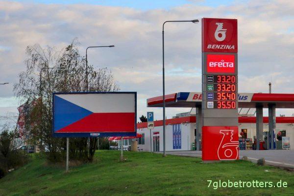 Tschechien: Dieselpreise an der Autobahn