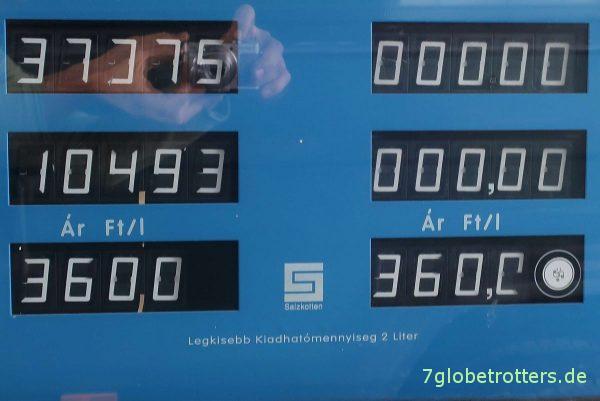 Dieselpreise in Ungarn