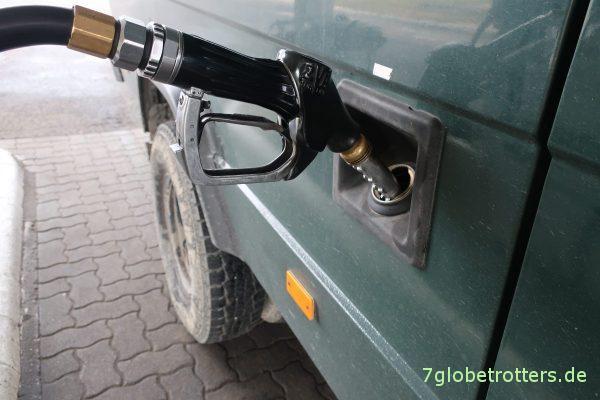 Tanken in Kecskemét: 105 Liter für 850 km