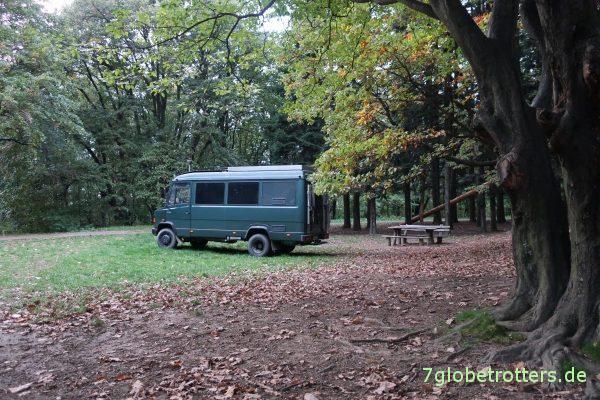 Serbien: Stellplatz im Nationalpark Fruška Gora / национални парк Фрушка гора