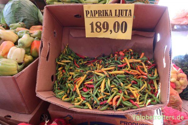 Kleine, gemeine Paprika