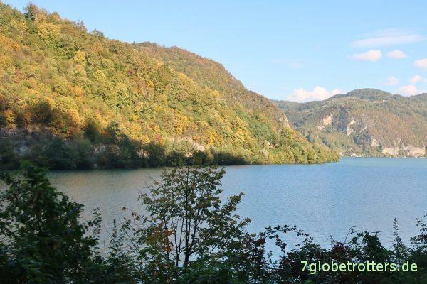 Drina-Durchbruch: Blick hinüber nach Serbien