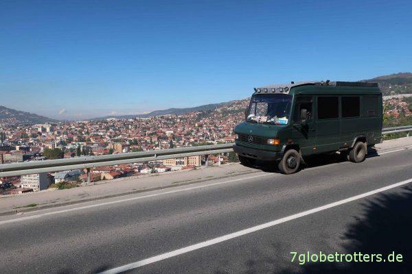 Bosnien-Herzegowina: Blick über Sarajevo