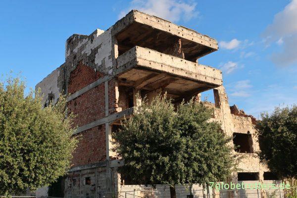 Zerstörtes Gebäude in Mostar