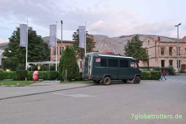 Unser Wohnmobilparkplatz in Mostar