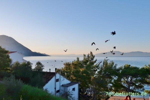 Nachsaison: Podaca bei Sonnenaufgang