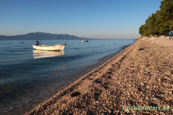 Der leere Strand von Podaca