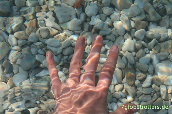 Glasklares Wasser der Adria