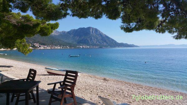 Mittag am immer noch leeren Strand von Podaca