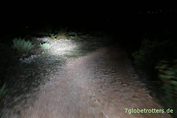 Nachtpistenfahrt zum Rio Pecos