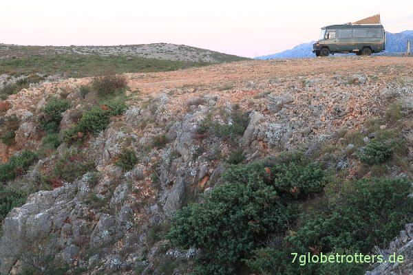 Das Plateau der Apachen über dem Rio Pecos