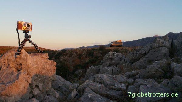 Reisekameraausrüstung für Sonnenaufgangsfotos: Canon PowerShot G9X II und GorillaPod