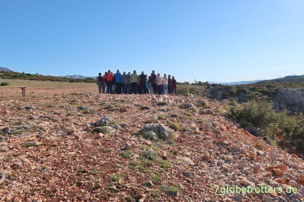 Kroatien: Wandergruppe am Rio Pecos